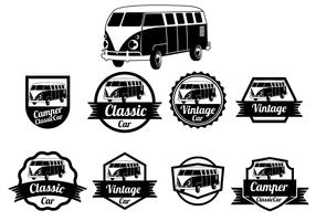 VW Camper Vector Badges