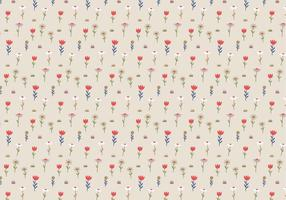 Pastel Flowers Pattern Background