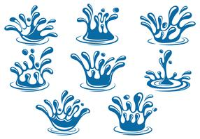 Set Of Water Splash Vector