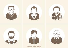 Free Man Icon Vector Set
