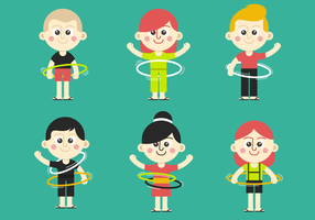Hula Hoop Kid Vectors