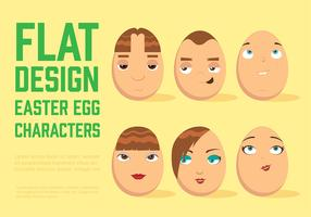 Free Easter Egg Vector Characters