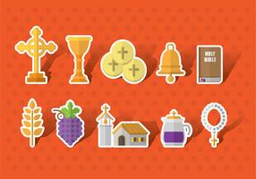 Eucharist Vector Icons