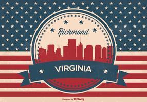 Richmond Virginia Retro Skyline Illustration