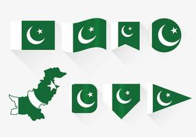 Pakistan Flag Set