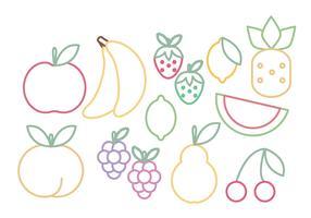 Vector Fruits Set