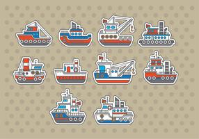 Tugboat Vectors