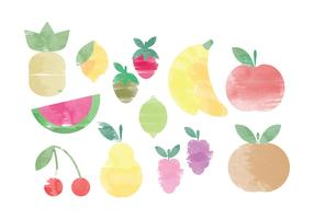 Vector Watercolor Fruit Elements