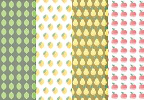 Vector Citrus and Fruit Pattern Set