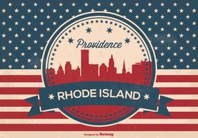 Providence Rhode Island Retro Illustration
