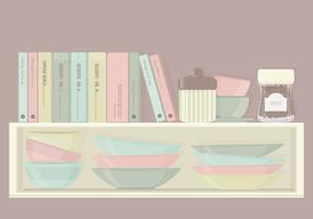 Kitchen Cabinet Elements Vector Set