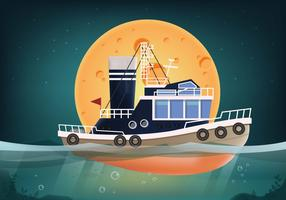 Tugboat Vector Seascape