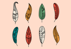 Free Hipster Feathers Vector