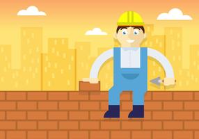 Bricklayer Illustration Vector
