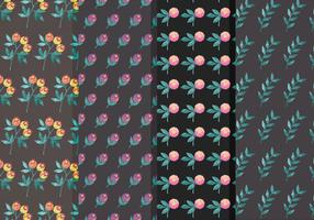Moody Flower Vector Pattern Set