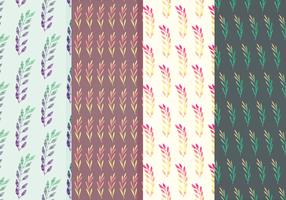 Colorful Branches Vector Pattern Set