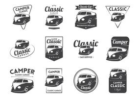 VW Camper Vintage Logo Vector