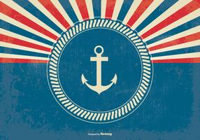 Nautical Style Retro Sunburst Background