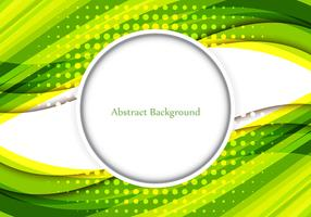 Free Vector Shiny Green Color Wavy Abstract Background