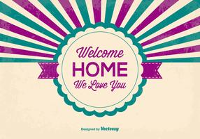 Retro Style Welcome Home Illustration