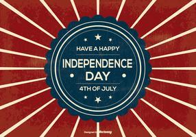 Retro Independence Day Illustration