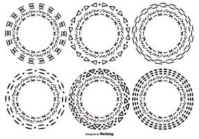 Hand Drawn Style Circle Shapes
