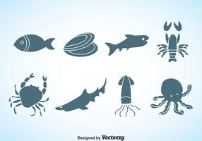 Seafood Silhouette Vector