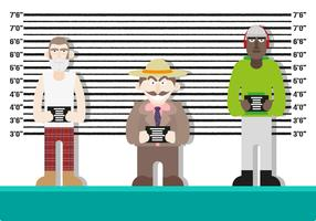 Mugshot Background Characters Police Vector