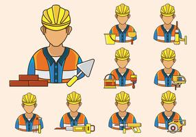 Bricklayer Icon Vector