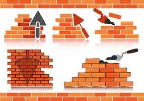 Stok Vector Bricklayer
