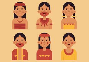 Vector Inca People
