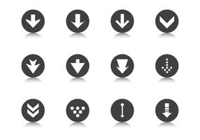 Down Grade Arrow Button Vector Pack