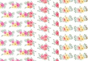 Vector Floral Leaf Pattern Set