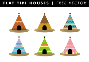 Flat Tipi Houses Free Vector