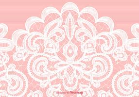 Vector White Lace Texture On Pink Background