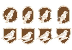 Set Of Nightingale Badges