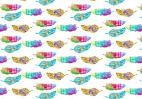 Free Pattern Watercolor Bohemian Feather