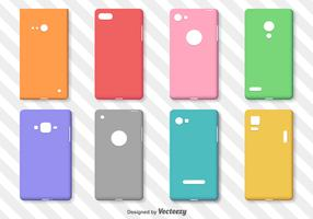 Set Of Simple Colorful Phone Cases Vector