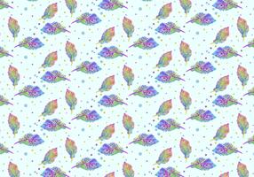 Free Vector Watercolor Bohemian Feather Pattern