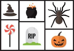 Elementos del vector de Halloween