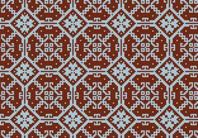 Crosstitch Motif Pattern Background