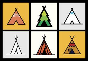Tipi vector illustrations 1