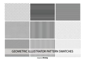 Geometric Vector Pattern Swatches