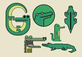 Gator Vector Illustrations