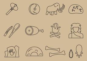 Prehistoric Line Icons