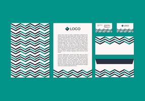 Free Chevron Vector Letterhead Design