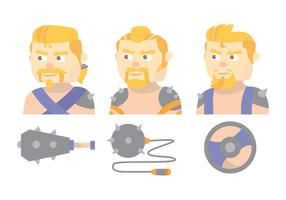 Barbarian Vector Set