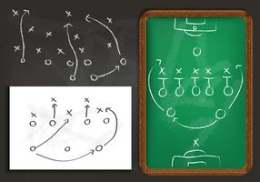Playbook Chalkboard Vector