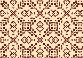 Stitching Brown Floral Pattern