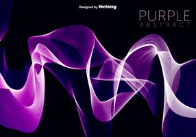 Vector Purple Wave Abstract Background